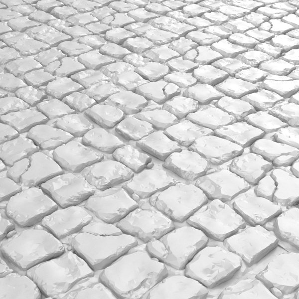 cobble cobblestone stone 3d model
