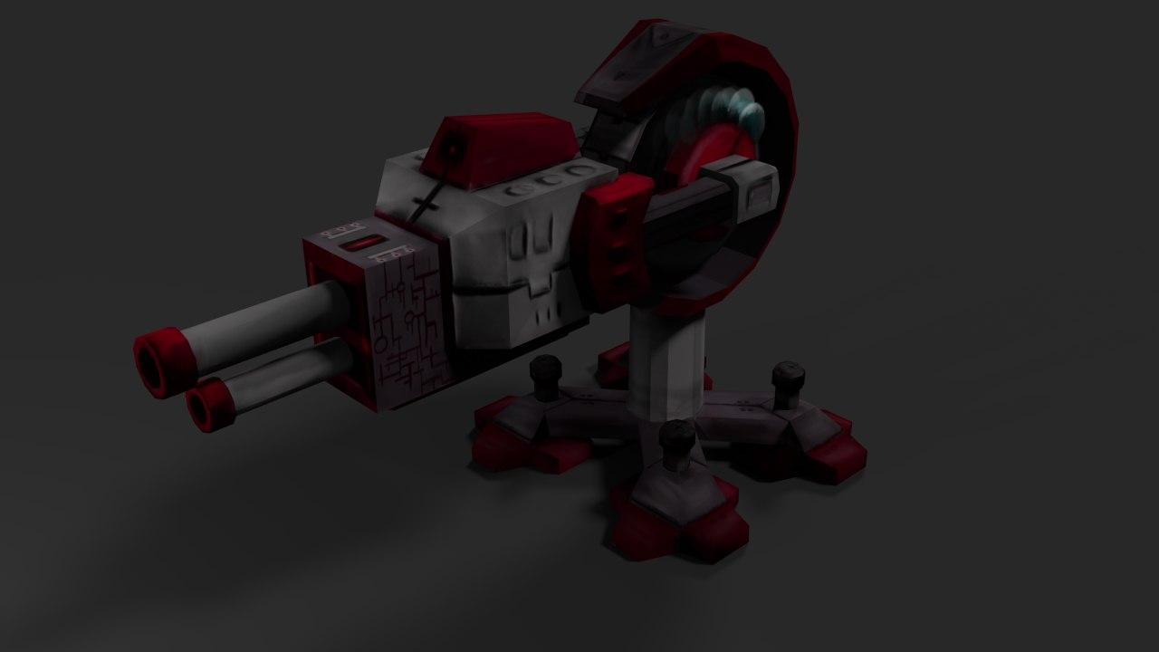 laser cannon energy 3d model