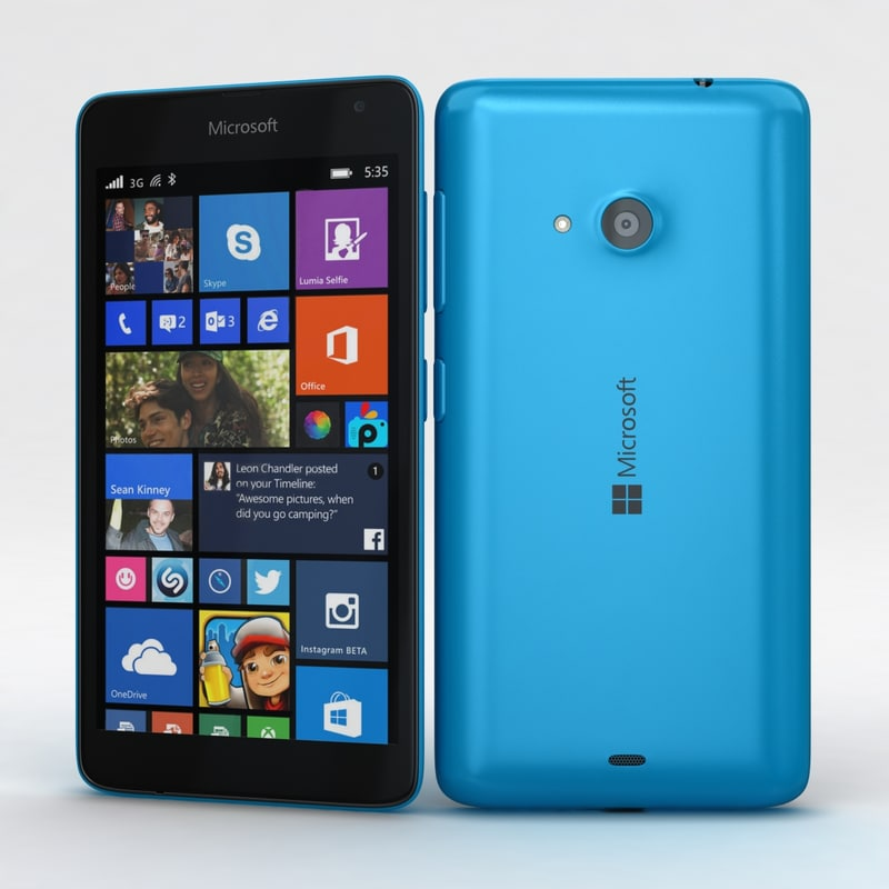 microsoft lumia 535 dual 3d model