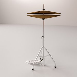 hihat cymbal 3d 3ds