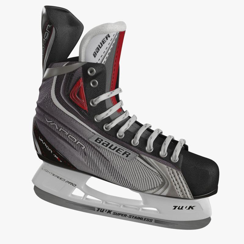 3d ice hockey skates bauer model