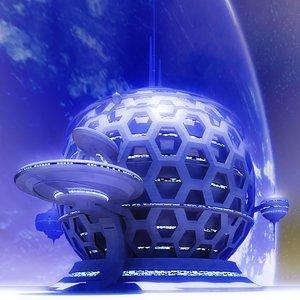 futuristic building sci-fi max