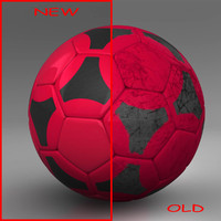 3ds max ball soccer black