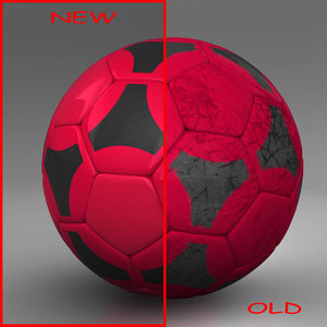 3ds max ball soccer black