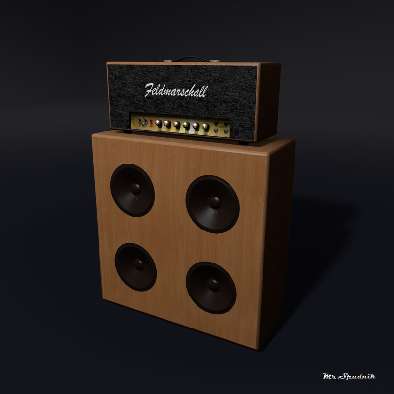 3d model amplifier guitar head