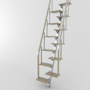 3d model stairs 01