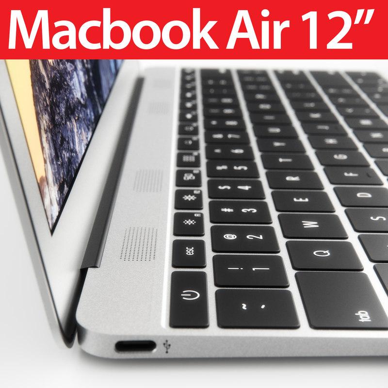 3d 12 apple macbook air model