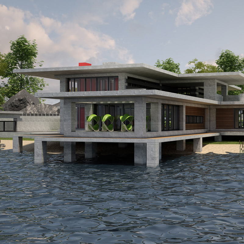 3d model villa 03 lakeside v2