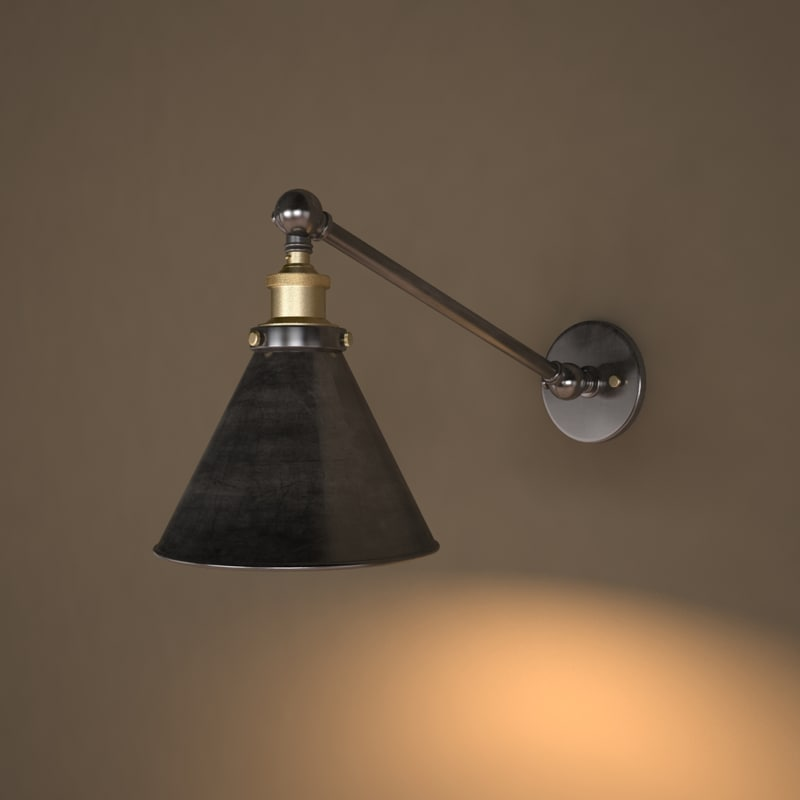 sconce 20th c library 3d model
