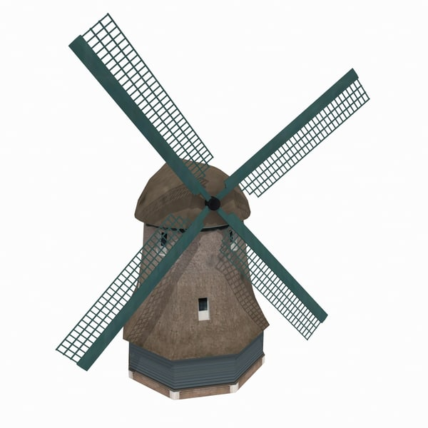 building windmill netherlands museum 3d model