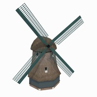 building windmill netherlands museum 3d model