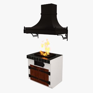 3ds max barbecue hood