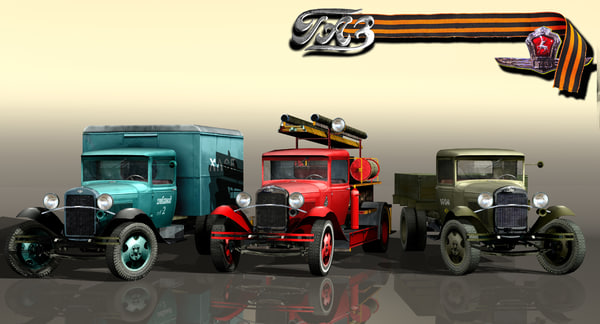 3d vehicle gaz-aa package model