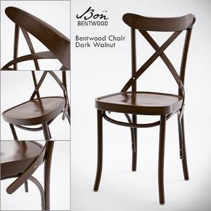 3d model bon bentwood chair