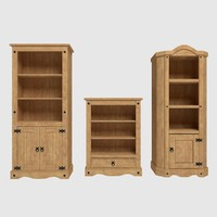 Corona Bookshelf Cupboard Set