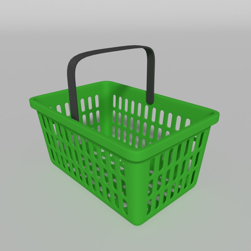 shopping basket 3d dxf