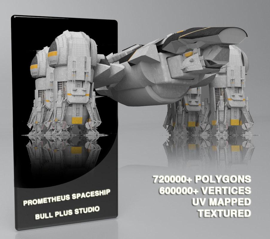 3d max prometheus spaceship