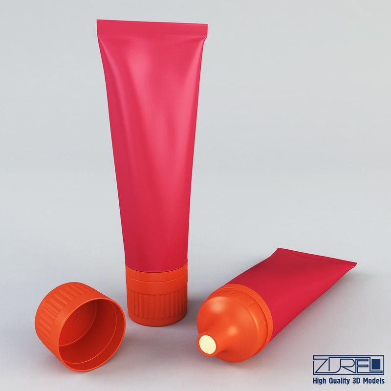 3d cream tube