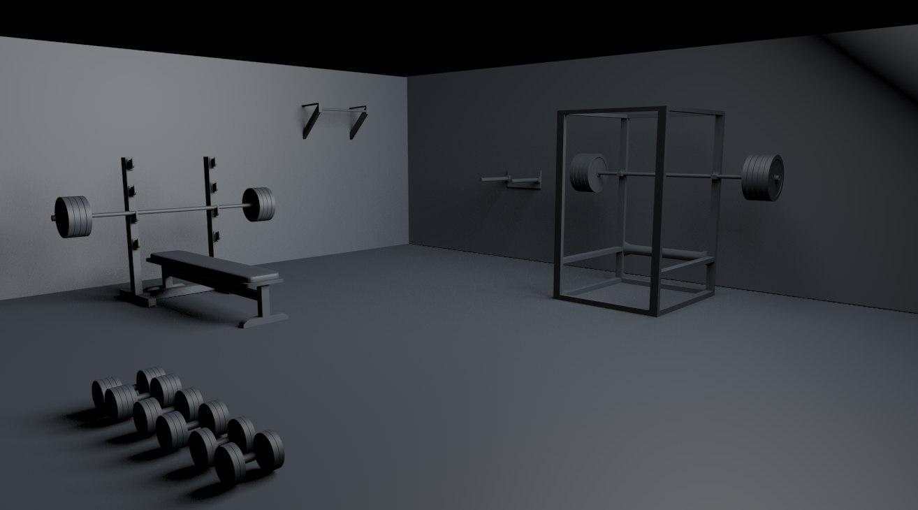 gym props pack 3d model