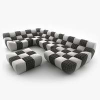New Look BRONX corner sofa with couch and pouf