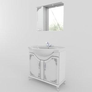 bathroom furniture set 02 3d model