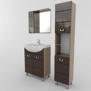 3d bathroom furniture set 03