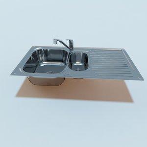 3d kitchen sink mixer tap model