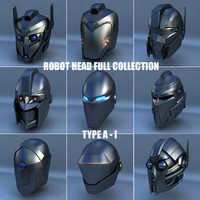 3d robot head type - model