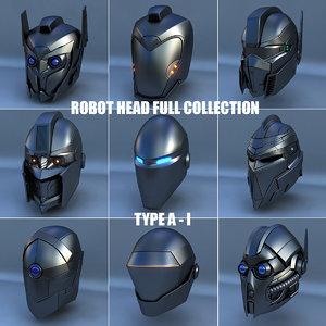 robot head type - 3d model