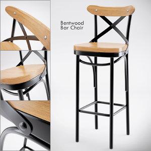 metal bar chair max