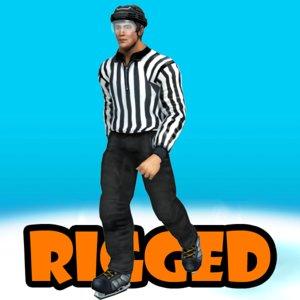 3d hockey referee