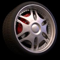 3d wheel brakes tyre