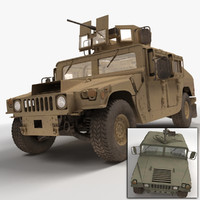 3ds realistic hmmwv military humvee