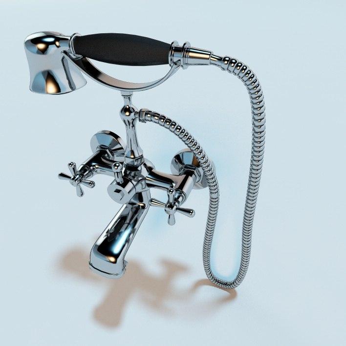 3d classic bathroom mixer tap model