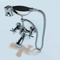 3d classic bathroom mixer tap model