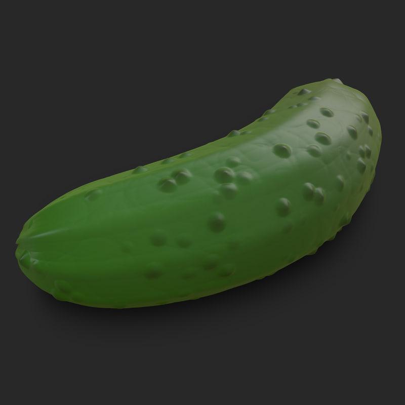 pickle cucumber displacement 3d model