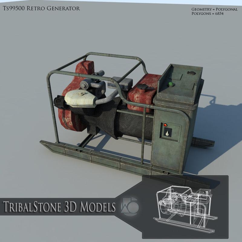 3ds max retro generator