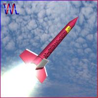 3d model orion rocket