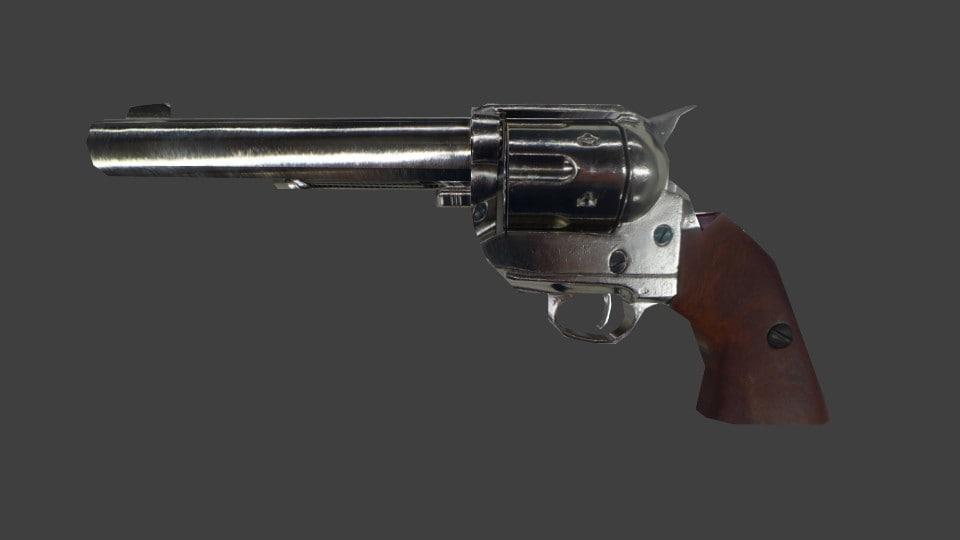 revolver 45 3d model