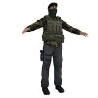 ira soldier 3d model