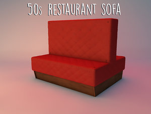 3d 50s restaurant sofa