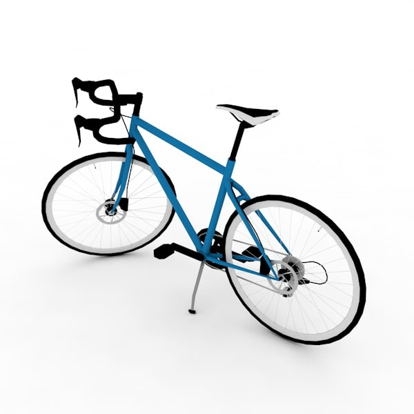 3dsmax bicycle polygons