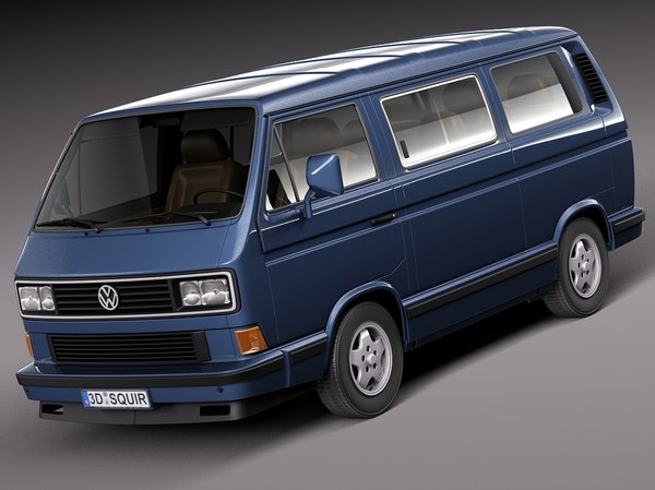 3d model volkswagen t3 limited