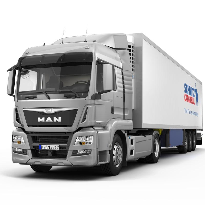 3d man tgs lx semi trailer