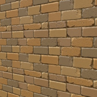 Stylized Sand Brick Wall