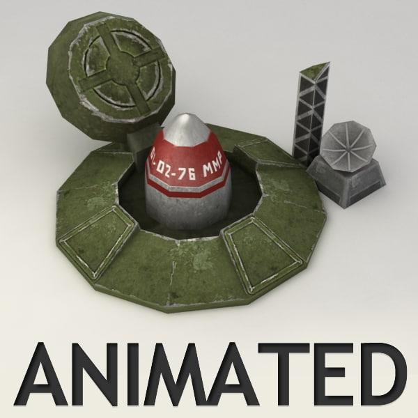 rocket silo animation 3d max