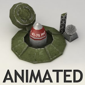 rocket silo animation 3d max