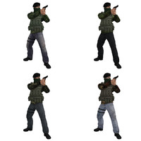 3d model pack rigged ira soldier