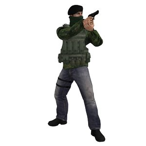 3d rigged ira soldier model