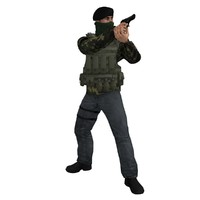 3d rigged ira soldier